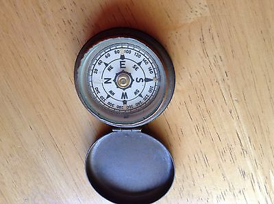small Vintage Compass in brass casing