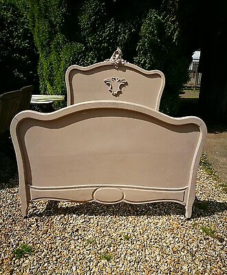 Vintage French Rococo Louis XV Style Double Bed