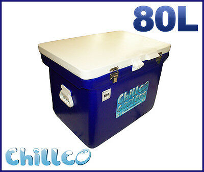 80L Chillco Ice Box Cooler Chilly Bin Superior Ice Retention-Rrp $400