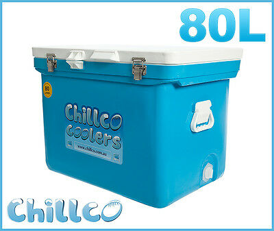 80L Chillco Ice Box Cooler Esky Chilly Bin Superior Ice Retention-Rrp $400