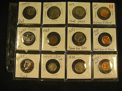 1943-D Silver Dime, 2003-S Proof Kennedy & 10 More Coins