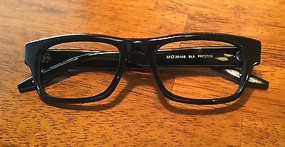 Black Barton Perreira Preston Acetate Eyeglasses Frames 52 20 148 w/ Case