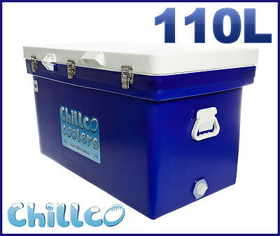 110L Chillco Ice Box Cooler Chilly Bin Ice Chest Superior Ice Retention-Rrp $480