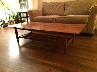Vintage Set Of 3 Willett Tables , Mid Century Coffee Table And  End Tables