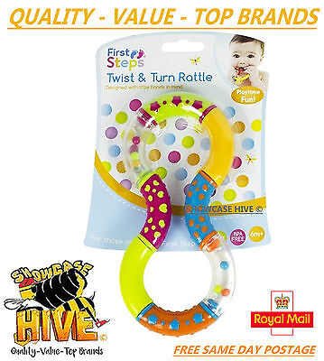 Rattles Twist And Turn Rattle Baby Rattle Teether 6 Months+ Textured Easy Grip*