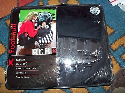 SOFT FOOTMUFF by gr8x in Black (Stroller Sleeping Bag for your Baby) new