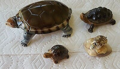 Lot Of 4 Collectible Turtle Figurines