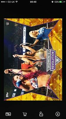 Topps WWE SLAM Women's Revolution Complete Set With Award