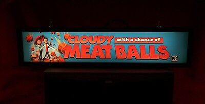 "Cloudy With A Chance Of Meatballs (2009) - Large Movie Theater Mylar 5"" X 25"""