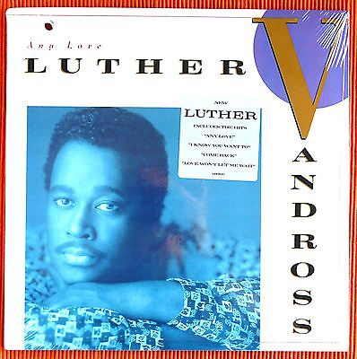 LUTHER VANDROSS  -  ANY LOVE   1988 US LP Epic   SEALED