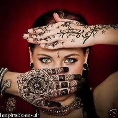 Colour Henna Cone And Stickers Many Colours Black, White, Temporary Tatoo