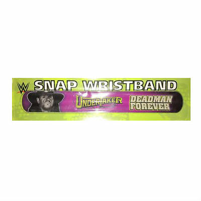 "WWE The Undertaker ""Deadman Forever"" snap bracelet - OFFICIAL WWE STORE"