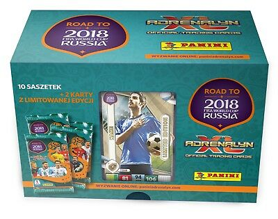 BIG TIN ROAD TO WORLD CUP 2018 Panini Adrenalyn XL Limited edition Booster