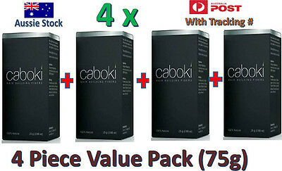 4 X Caboki Hair Building Fibers Hair Loss Concealer Get Thicker Full Hair