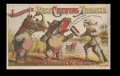 *rare*   Trade Card ~ Jackson's Best Chewing Tobacco