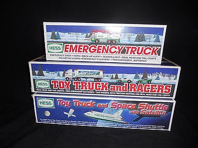 Hess Toy Trucks 1996, 1997, 1999 / Lot of 3 / NEW IN BOX