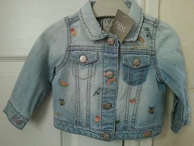 Next Baby Girls Denim Jacket Size 6-9 Months BNWT
