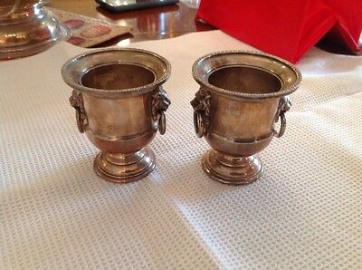 Vintage Viners Silver Plated Mini Urns