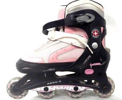 Schwinn Quality Pink Roller Blades Size 5-8 COMES WITH 3 PAIR PROTECTIVE PADS