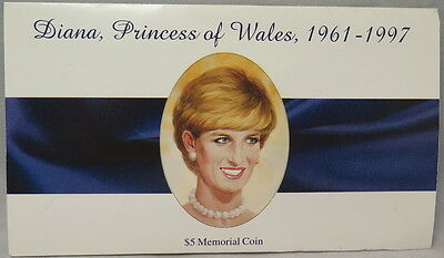 1997 Marshall Islands $5 Commemorative Coin: Diana, Princess Of Wales, 1961-1997