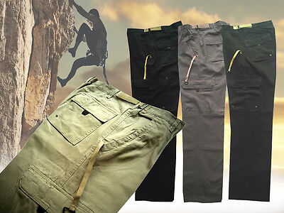 Mens Trousers Work Pants professional Cargo Combat Cotton color