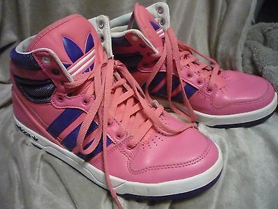 Adidas Men's Pink & Blue High Top, Shoes, Size 7