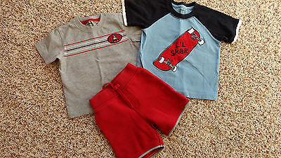 Baby Boy Gymboree shirts and shorts outfit set size 12-18 18-24 months