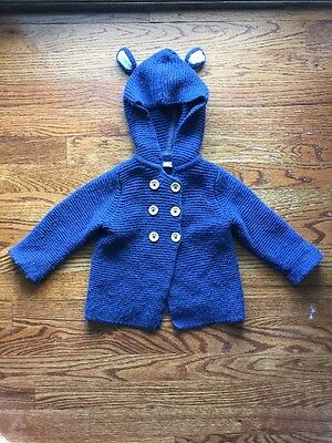 Mini Boden Baby Boys Sweater Jacket Size 12-18 Months