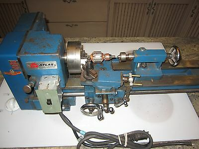 Atlas model # 10100 metal lathe with tailstock chuck compound w/ tool post