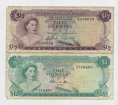 Bahamas - Five (50) Cents & One (1) Dollar