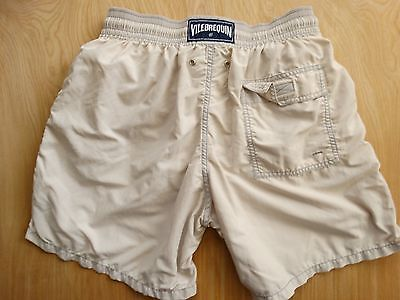 Vilebrequin Boys Solid Lite Grey Swim Board Surf Shorts Trunks Size: Large