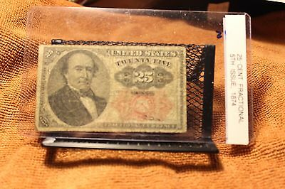 Nice Twenty Five Cent, 5th Issue Fractional Note from 1874.