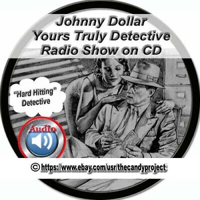 713 Mp3 2 DVDs Johnny Dollar Yours Truly Detective Private Eye OTR Audiobooks