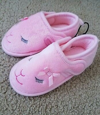 New Toddler Girls Pink Lamb Bed Slippers Shoe Size 7/8