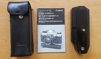 Canon Power Winder A2 for Canon AE 1, Manual and Case