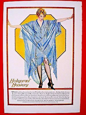 1921 HOLEPROOF HOSIERY ad ~ Artwork by COLES PHILLIPS ~ Milwaukee.