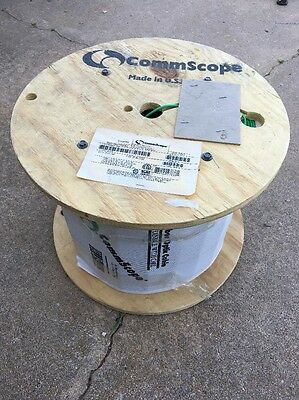 Commscope Single Mode fiber optic cable 2000ft spool Plenum Rated 2ct Green