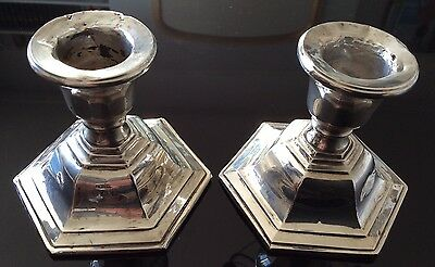 Pair of Silver candlesticks 1932.
