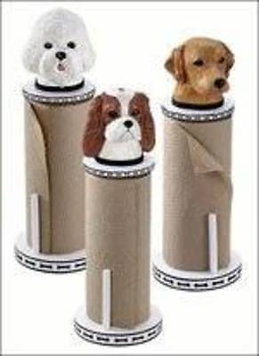 Paper Towel Holder with a Shih Tzu On Top