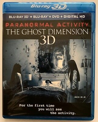 Paranormal Activity The Ghost Dimension 3D Blu Ray Dvd 3 Disc Set Free Shipping