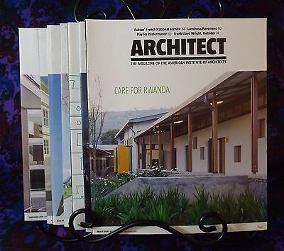 Architect Magazine Lot 8 Issues American Architecture Institute 2014 2015