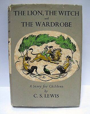 C.S.LEWIS The Lion, the Witch and the Wardrobe 1950 1st Edition