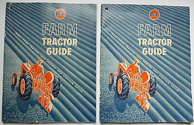 2 Vintage 1950 Gulf Farm Tractor Guide Publications.