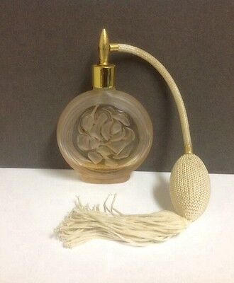 Vintage Cut Glass Perfume Bottle With Atomiser.