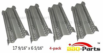 BBQ Gas Grill Replacement Parts Heat Plate Stainless Steel Heat Shield Pack Of 4