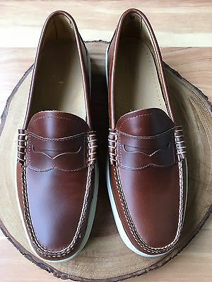 GH Bass Brown Leather Penny Loafers Casual Shoes Mens Size 11 D *