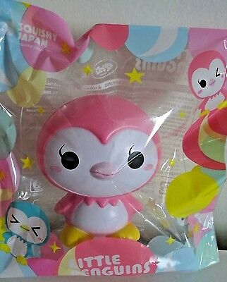 iBloom Little Penguins HAPPY Pink Penguin Squishy Scented NEW IN PACKAGE
