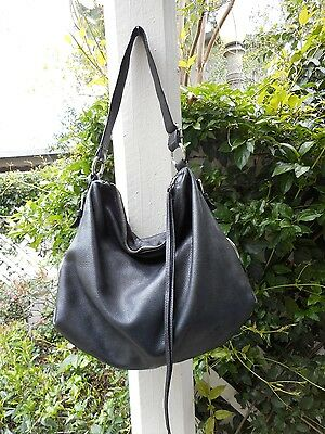 BANANA REPUBLIC Women's Black Leather Large Shoulder Bag