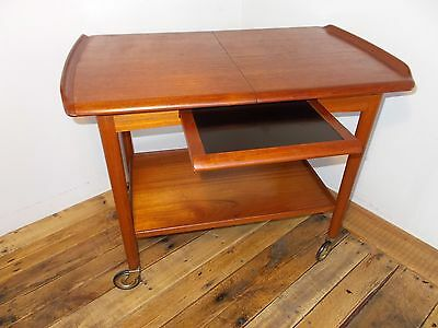 MOGENS HANSEN Trolley BAR CART Vtg 60s Mid Century Modern Mobler Danish Table