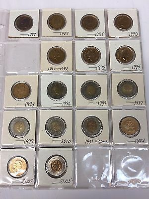 Assorted Canadian Dollars Lot *17 Coins* *$24 Face Value*